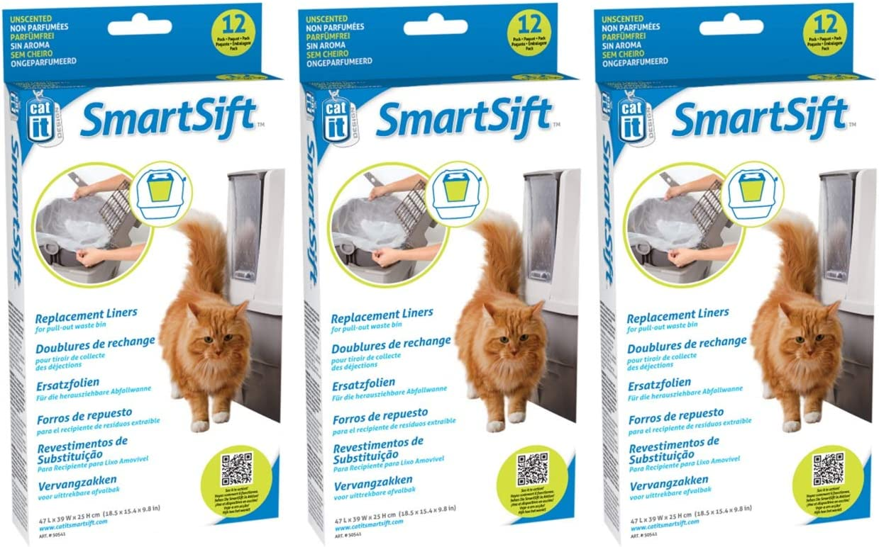 Catit Design Smartsift Sifting Cat Pan with Liner for Smartsift Pull-out Drawer and Liner for Smartsift Base