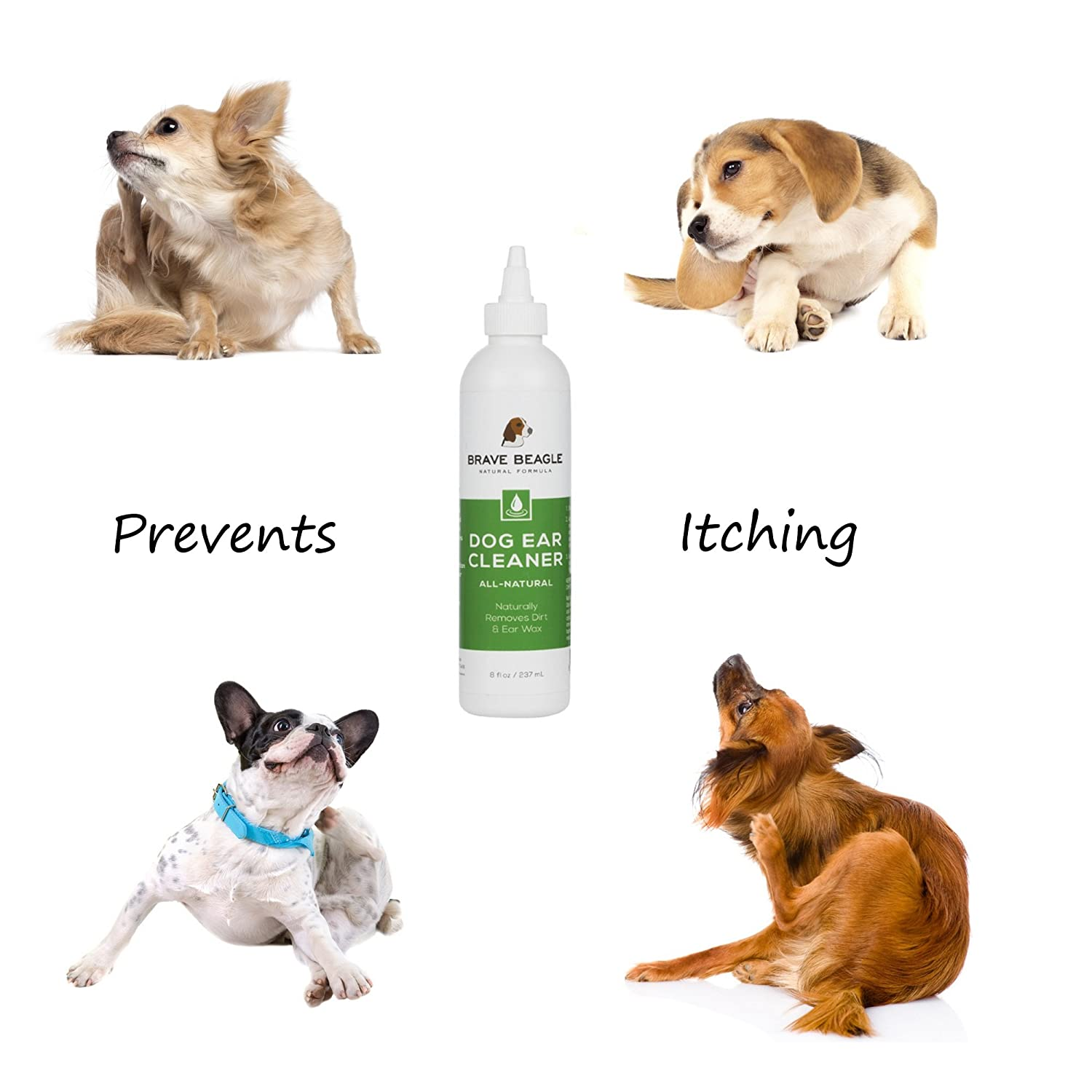Amazon All Natural Dog Ear Cleaner Gentle Soothing Drops