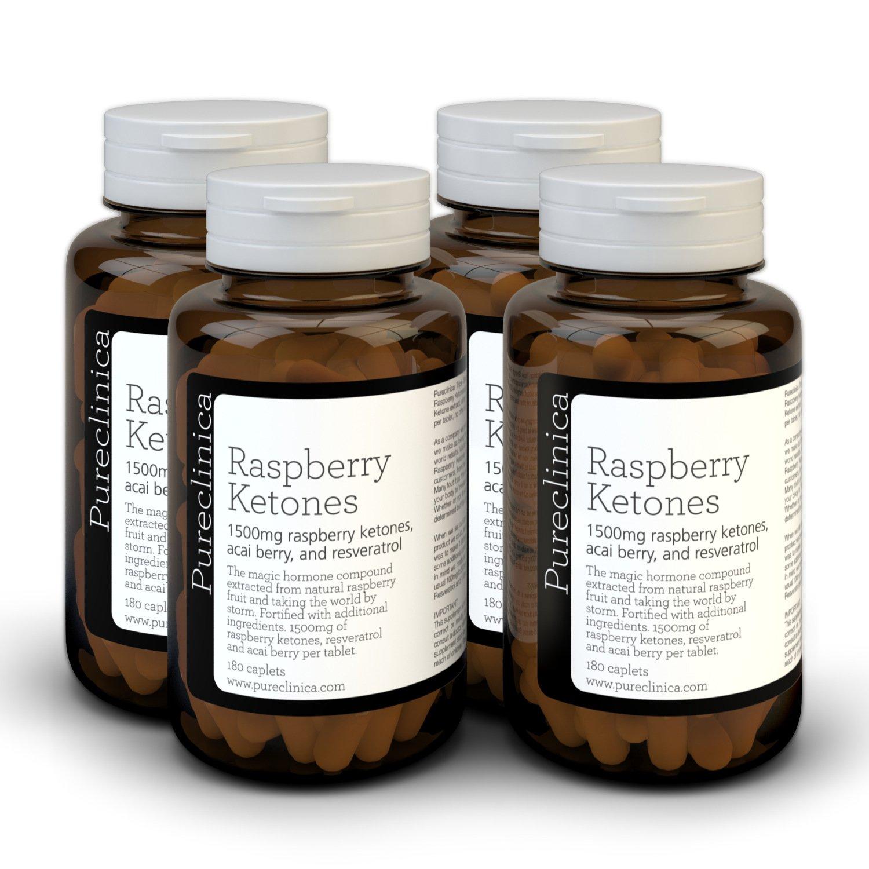 Triple Strength Raspberry Ketones - 1500mg x 720 Tablets (4 Bottles of 180 Tablets Each - 12 Months Supply) - 300% Strength of Normal Raspberry Ketones. SKU: RK3x4