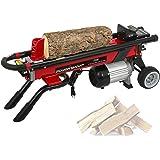 PowerSmart Log Splitter Electric, 6-Ton Hydraulic Log Splitter, 15 Amp Electric Log Splitter, Electric Wood Splitter, Horizon