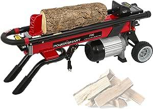 PowerSmart Electric Log Splitter 6 Ton 15 AMP Electric Powered Hydraulic Wood Splitter