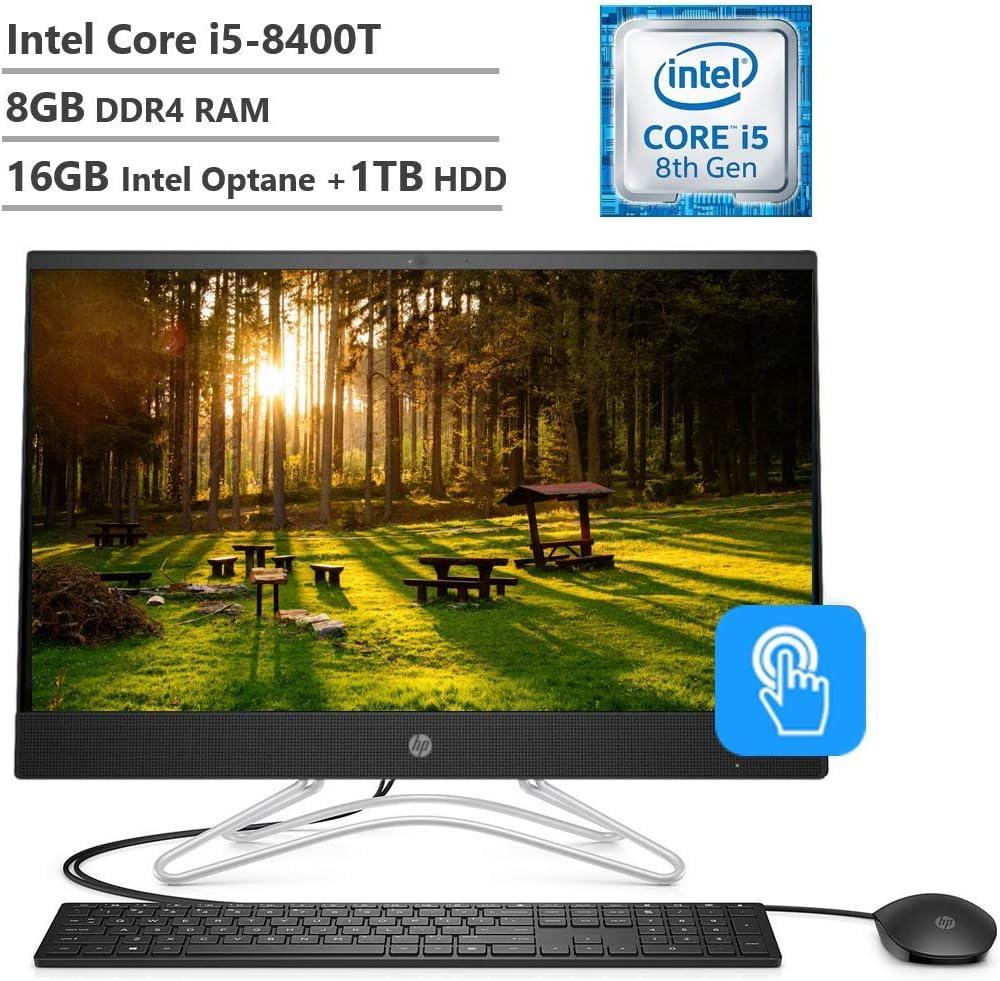 "HP Touchscreen 23.8"" FHD All-in-One AIO Desktop, Intel Core i5-8400, 24GB Memory: 16GB Intel Optane + 8GB RAM, 1TB Hard Drive, Wireless-AC, Optical Drive, 2 Year of HP Warranty Care Pack, Windows 10"