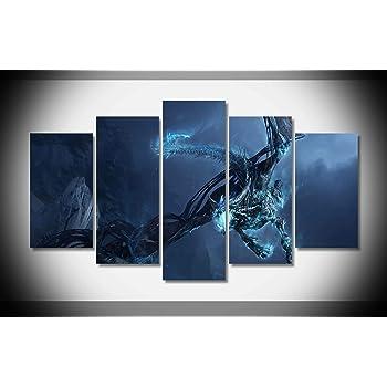 Amazon.com: Mcanvas 5pcs World Of Warcraft Dragons Canvas Print Wall ...