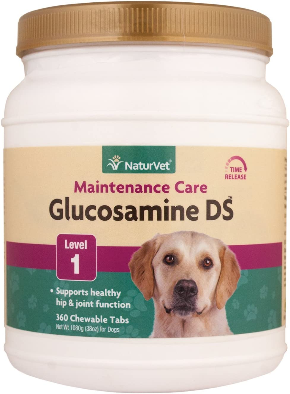 NaturVet 240 Count Glucosamine- DS with Glucosamine and Chondroitin Tablets for Dogs (360 Count)