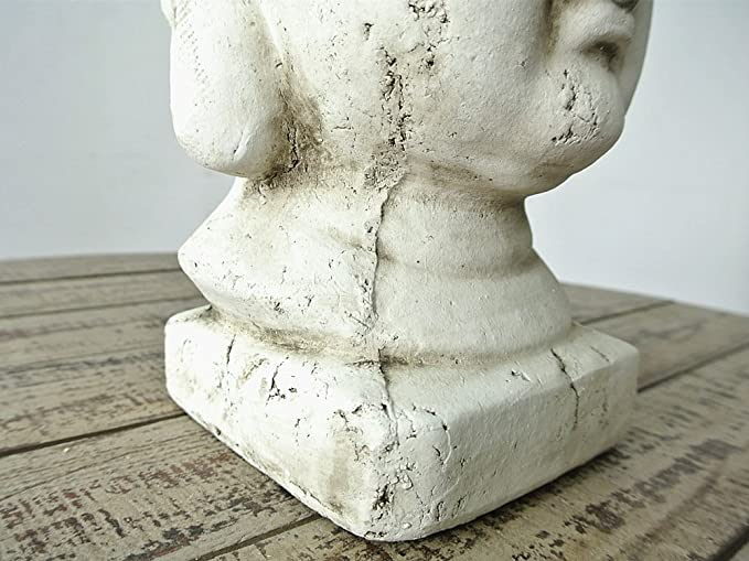 GFEI la Ceramica Artigianale Vecchio Gesso Ceramica Artigianato//Buddha//Testa di Budda Decorazione Decorazione