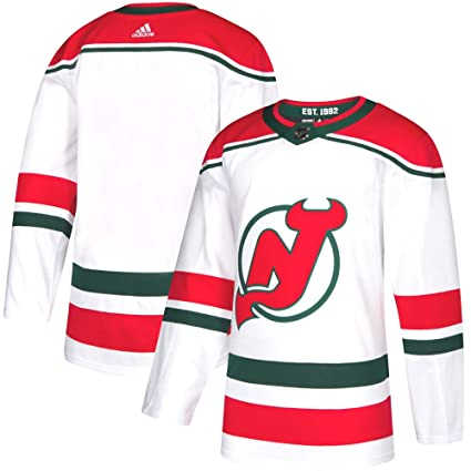 huge selection of b4b8b a2681 Image Unavailable. Image not available for. Color  adidas New Jersey Devils  NHL Men s Climalite Authentic Alternate Hockey Jersey