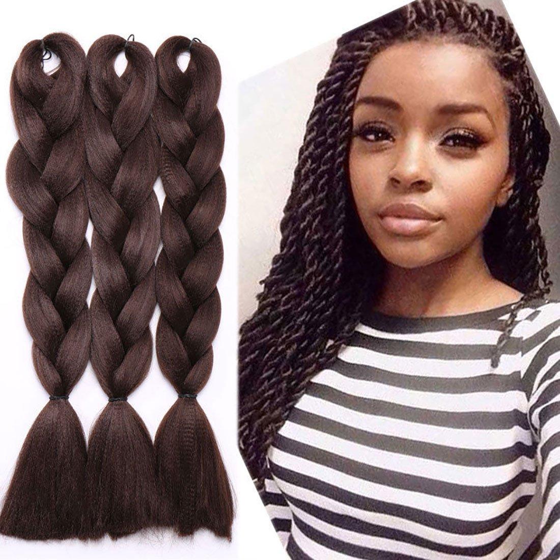 3 Pcs300g 24 Two Ombre Kanekalon Braiding Hair Synthetic Braid