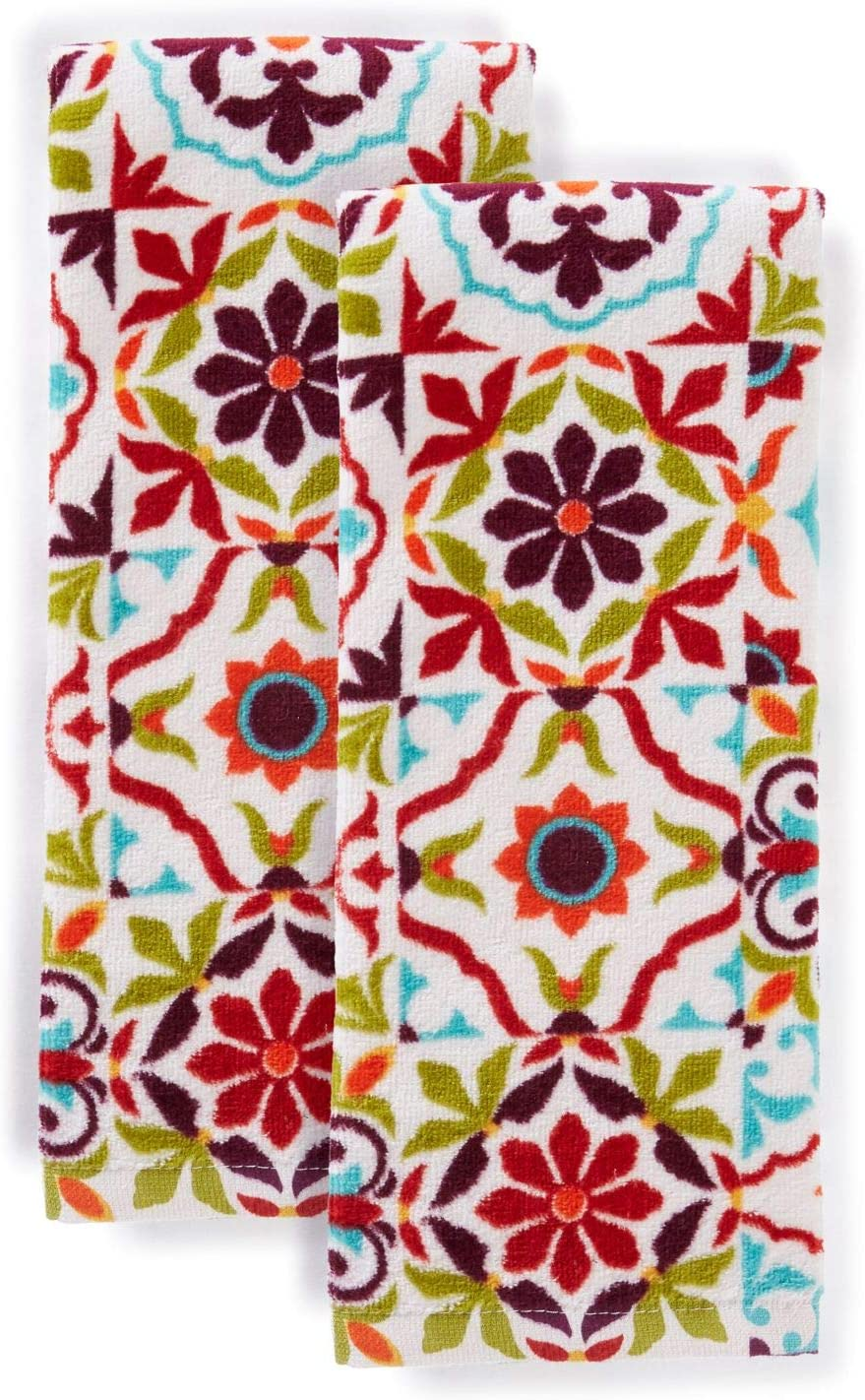 Fiesta Worn Tiles Kitchen Towel Set, 16