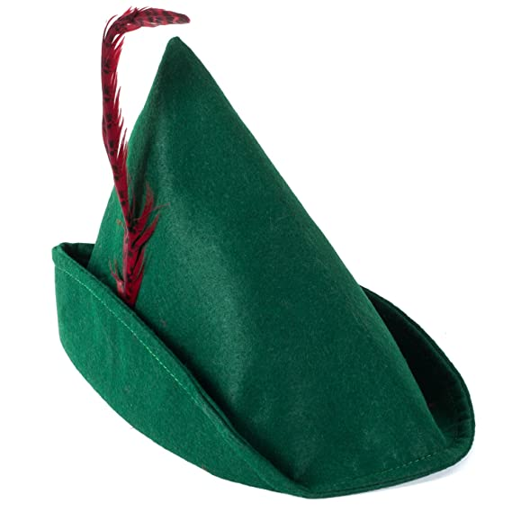 1930s Style Hats | 30s Ladies Hats Tigerdoe Alpine Hat - Alipine Hat With Feather - Elf Hat - Green TYROLEAN Hat With Feather - Storybook Costumes $11.79 AT vintagedancer.com