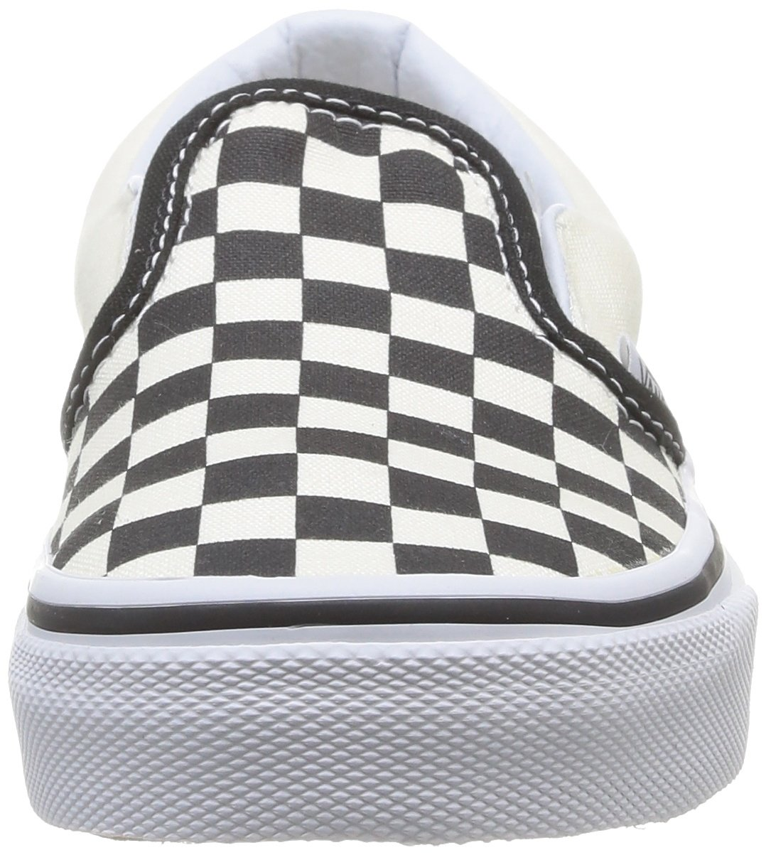 Vans Kids Classic Slip-On (Little Big Kid), ((Checkerboard) Black/White, 13 M by Vans (Image #4)