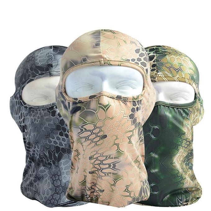 akoak resistente Pythons camuflaje tácticas Headgear capucha ...