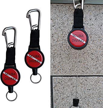 """Diving Retractor Keychain 39/"""" Retractable Cord Dive Gear Holder Lanyard Strap"""
