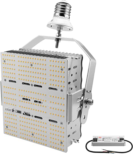 DLC 240W LED Shoebox Pole Light Replace 1000Watt MH Tennis Court Lighting 5700K