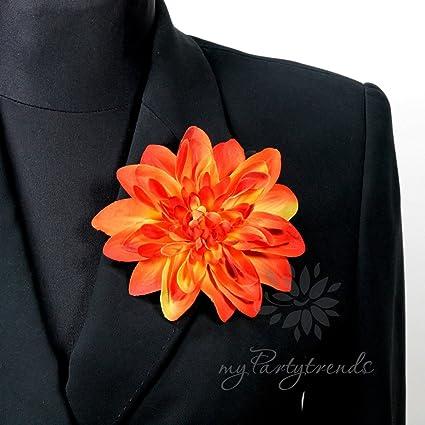 Elegante Corbata de pelo/Flor en muchos colores. Solapa flor dalia ...