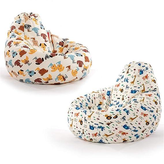 Amazon.com: Cute Animal Bean Bag Lounger Sofa Cover Chairs ...