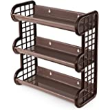 Cello Japan Plastic Storage Shelf, Brown Grey