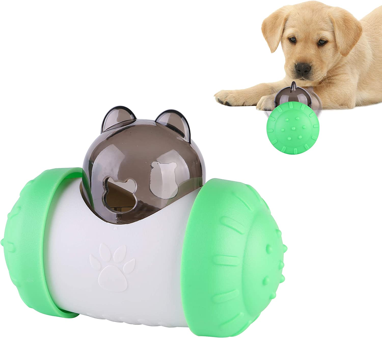 brdonsuper Pet Dog Wobble Ball Slow Feeder Interactive,Wobble Dog Puzzle Toys,IQ Dog Treat Ball,Dog Food Dispenser for Large Medium Dogs