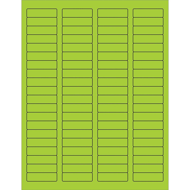 8000//Case Fluorescent Green 1 3//4 x 1//2 Tape Logic Rectangle Laser Labels