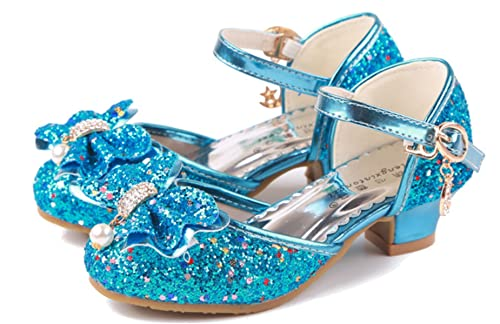YOGLY Disfraz de Princesa Zapatos de Tacón Alto Fiesta Sandalias para Niñas  Brillante Princesa Zapatilla de Baile  Amazon.es  Zapatos y complementos 9e66ef8b5a20