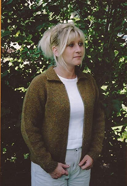 ed776d13e Image Unavailable. Image not available for. Color  Knitting Pure   Simple  Knitting Pattern No. 201 - NeckDown Jacket