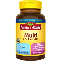 Nature Made Women's Multivitamin 50+ Softgels, 60 Count for Daily Nutritional Support