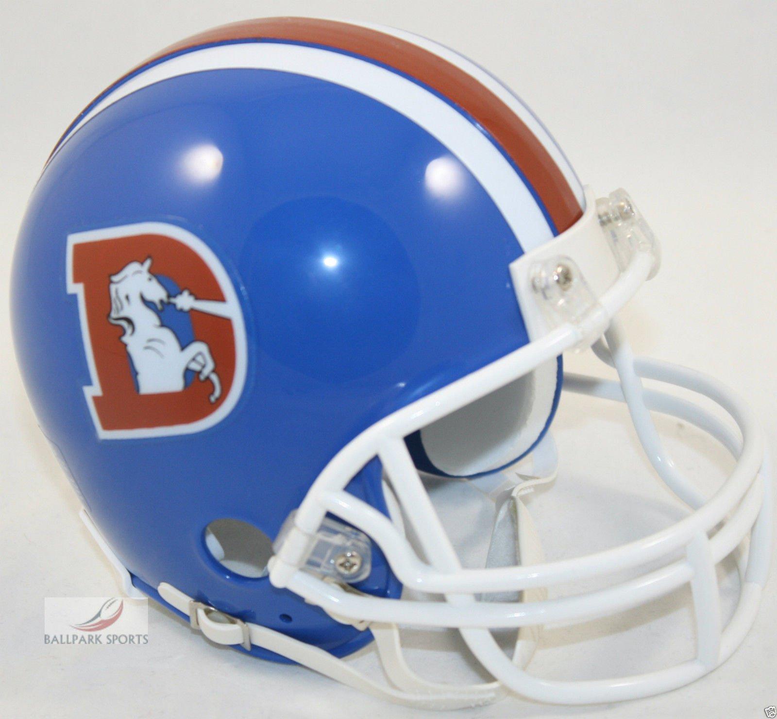 Denver Broncos 1975 1996 Throwback Riddell Mini Football Helmet New in Riddell Box