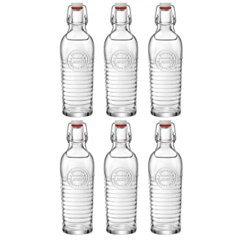 Bormioli Rocco Officina 1825 Vintage Botella de vidrio con tapa abatible 1200ml - transparente - 6