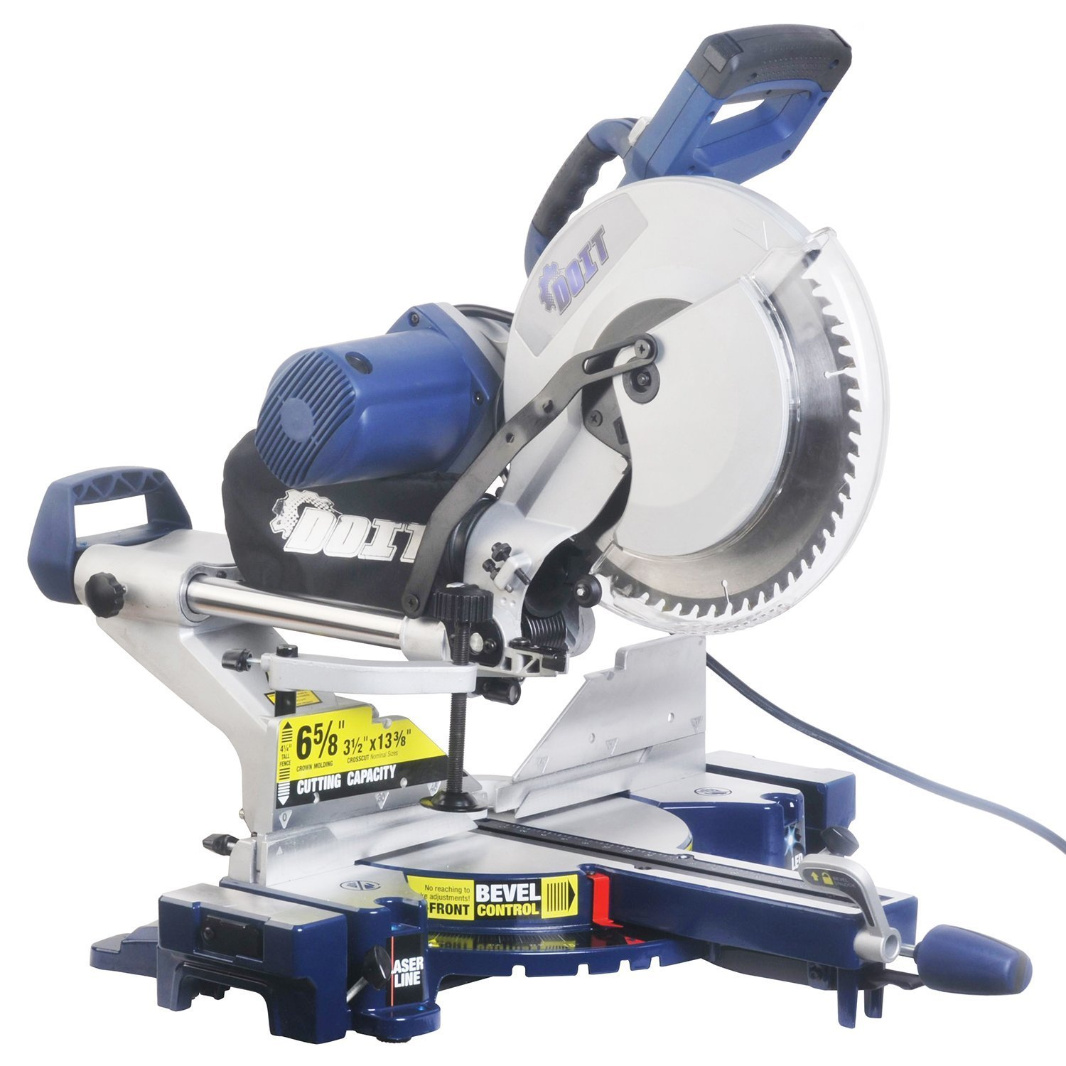 Ainfox 15 Amp 12-Inch Dual Bevel Sliding Compound Miter Saw, Laser and LED Work Light