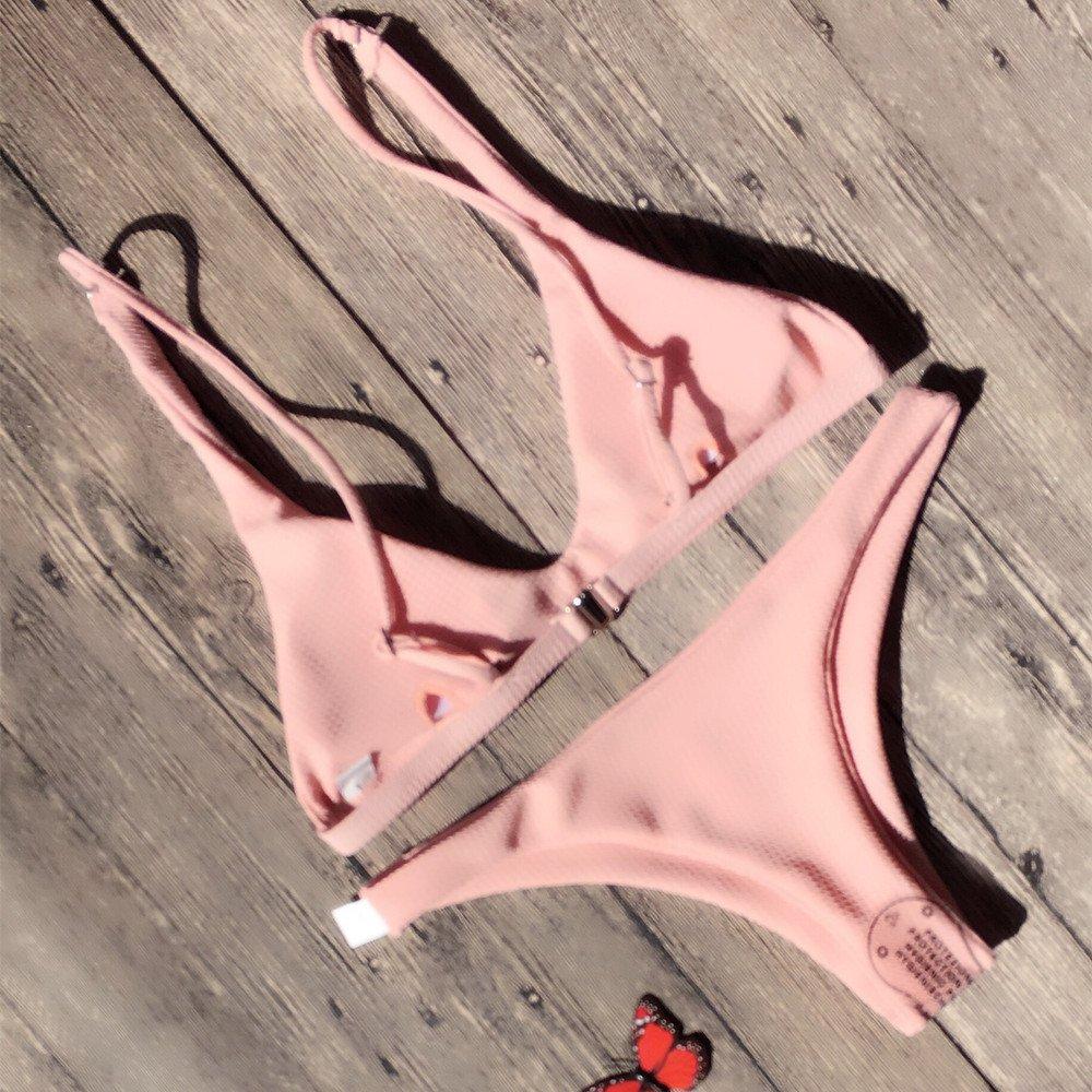 Bañador de Mujer Beach Bikini Set Sexy Traje de Baño Push Up Bodysuit Bikini Conjunto de Bikini 2019: Amazon.es: Electrónica