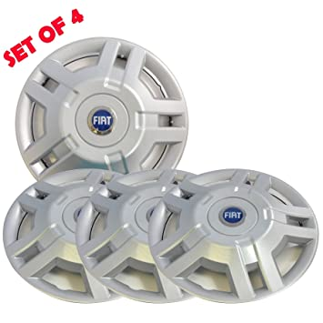 "Genuine Fiat 15"" Wheel Trims 4 Wheel Ducato Van Or Motorhome Blue Logo ..."