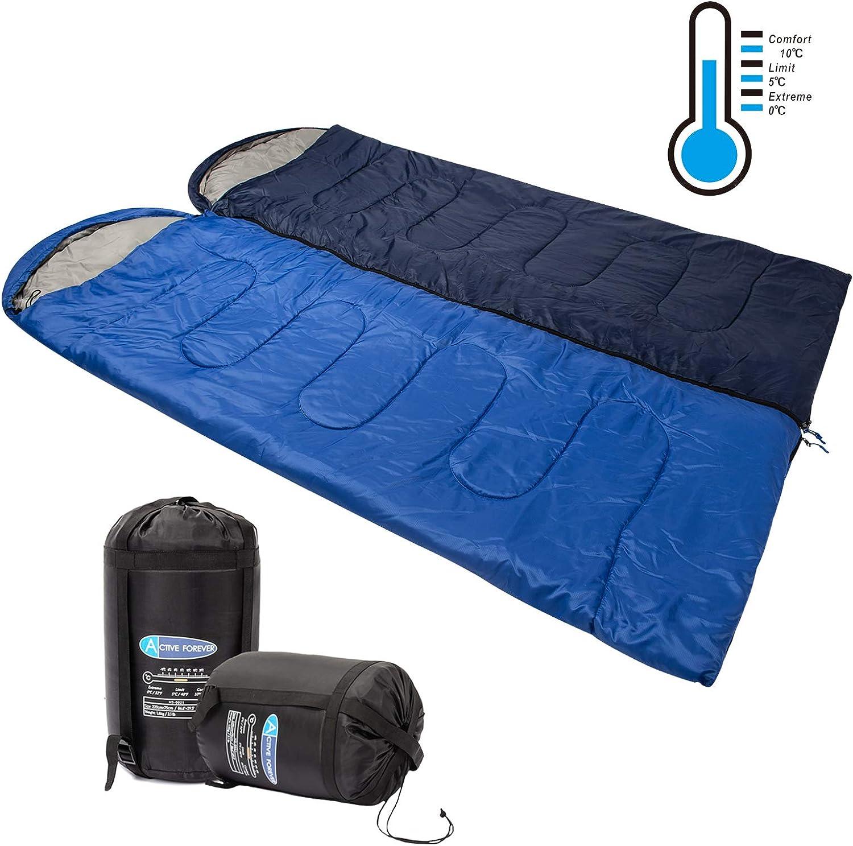 Geeignet f/ür Camping im Freien 2 Beutel Verwendung im Auto Ferienhotel Winterpaarschlafsack Active Forever 2-in-1-Splei/ßdoppelschlafsack Heimgebrauch
