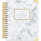 """Day Designer 2018 Original Flagship Edition Daily Planner, 9"""" x 9.75"""", White Marble"""