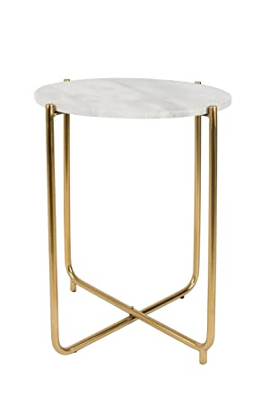 Felis Lifestyle Side Table TIMPA Marble White, Marbre, Blanc, 44,5x44,