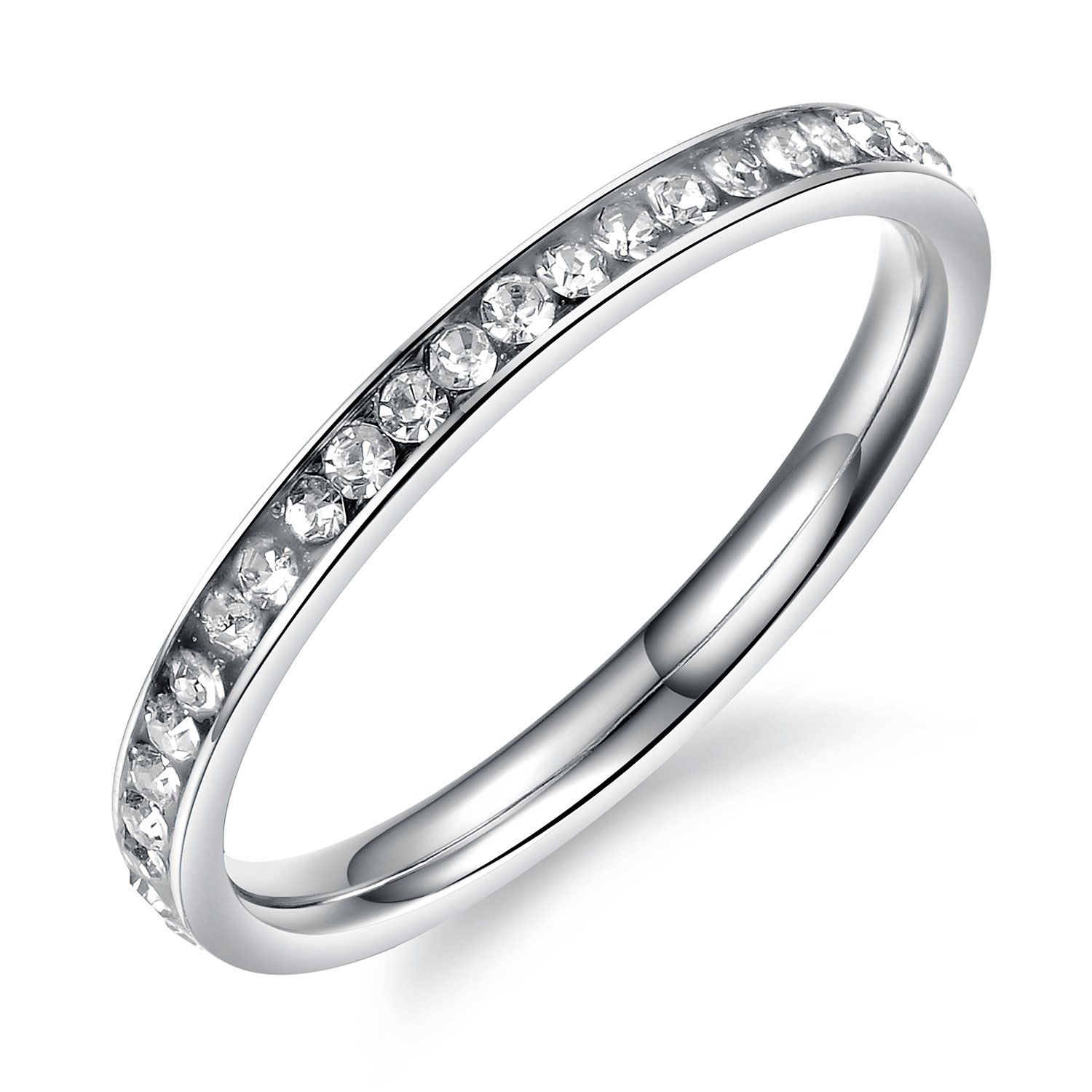 Mintik Womens CZ Eternity Ring Engagement Wedding Band Anniversary Engagement Promise Tail Ring Size 4 to 8 Mintik Jewelry M-R-031