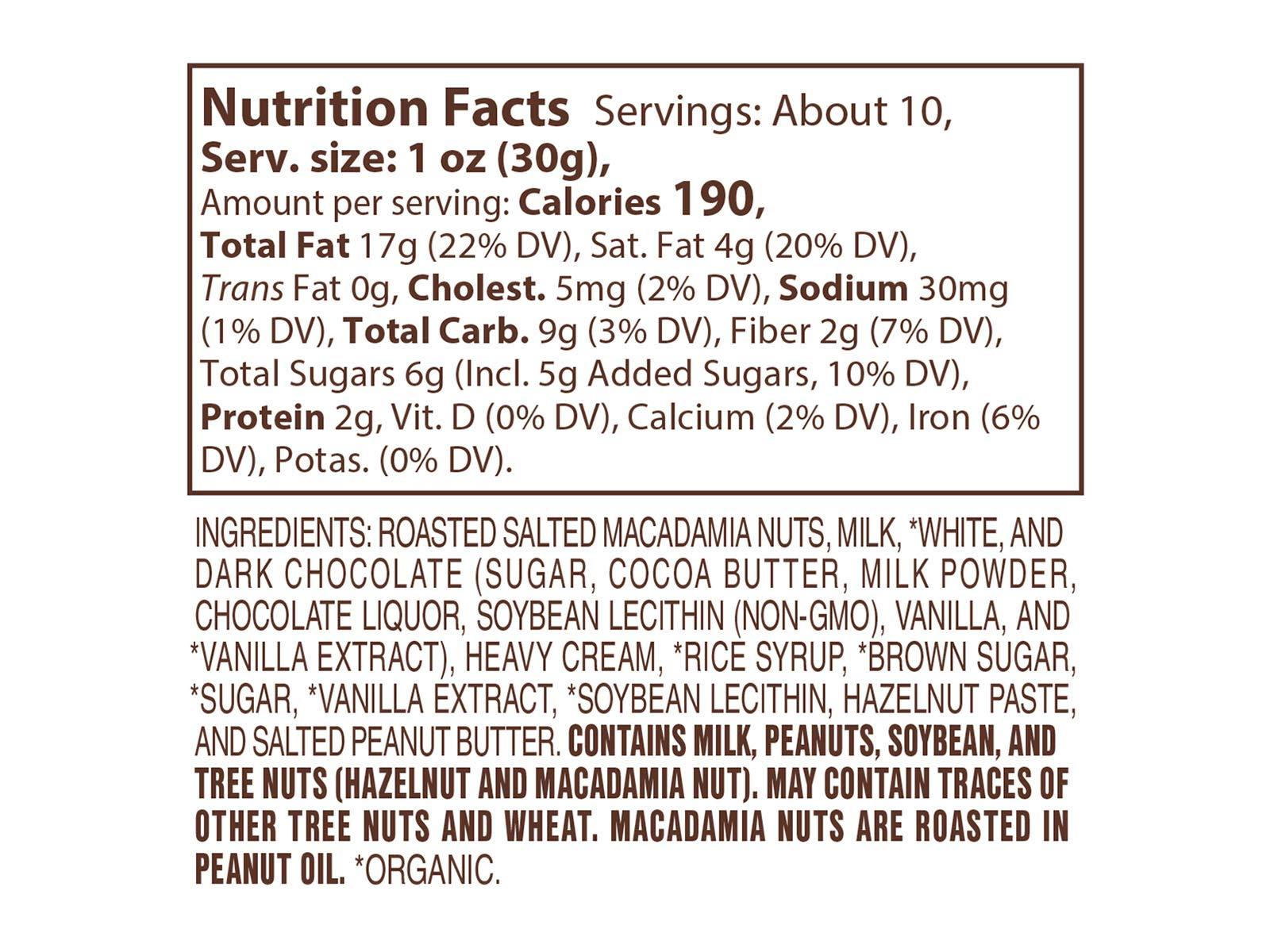Lake Champlain Milk Chocolate Macadamia Nut Caramel Clusters, 6 Pieces, 10.25 Ounces by Lake Champlain Chocolates