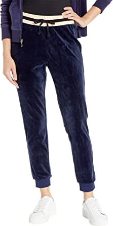 Juicy Couture Women s Luxe Velour Pants Royal Navy Small 26.5 b8cf2a1d8