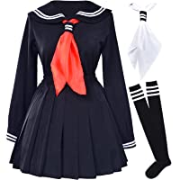 Elibelle Classic Japanese School Girls Sailor Dress Shirts Uniform Anime Cosplay Costumes with Socks Set