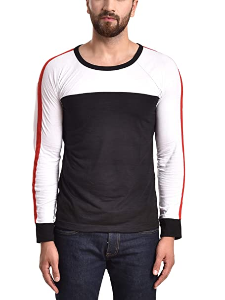 b65086b2be8 PAUSE Black Solid Cotton Round Neck Regular Full Sleeve Men s T-Shirt   Amazon.in  Clothing   Accessories