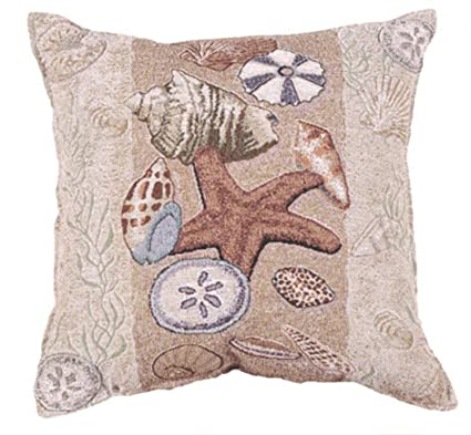 Amazon Simply Home Seashell Collection Beachside Decorative Mesmerizing Seashell Pillows Decorative