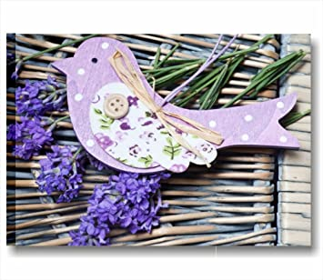 Lavendel Vintage 2 U2013 Modernes Bild 70 X 50 Cm Druck Auf Leinwand Moderne  Bilder Shabby