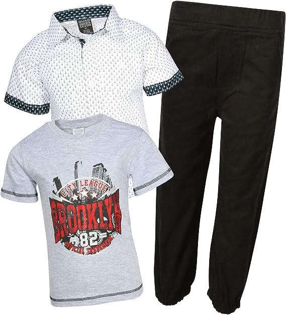 4 Pack Quad Seven Boys/' Athletic Performance Fashion T-Shirts