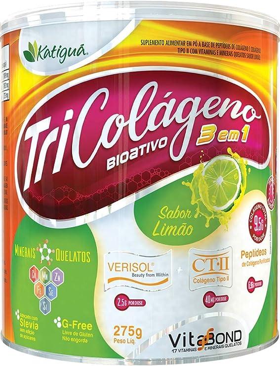 Tri Colágeno 3 Em 1 - Sabor Limão 275G, Katiguá