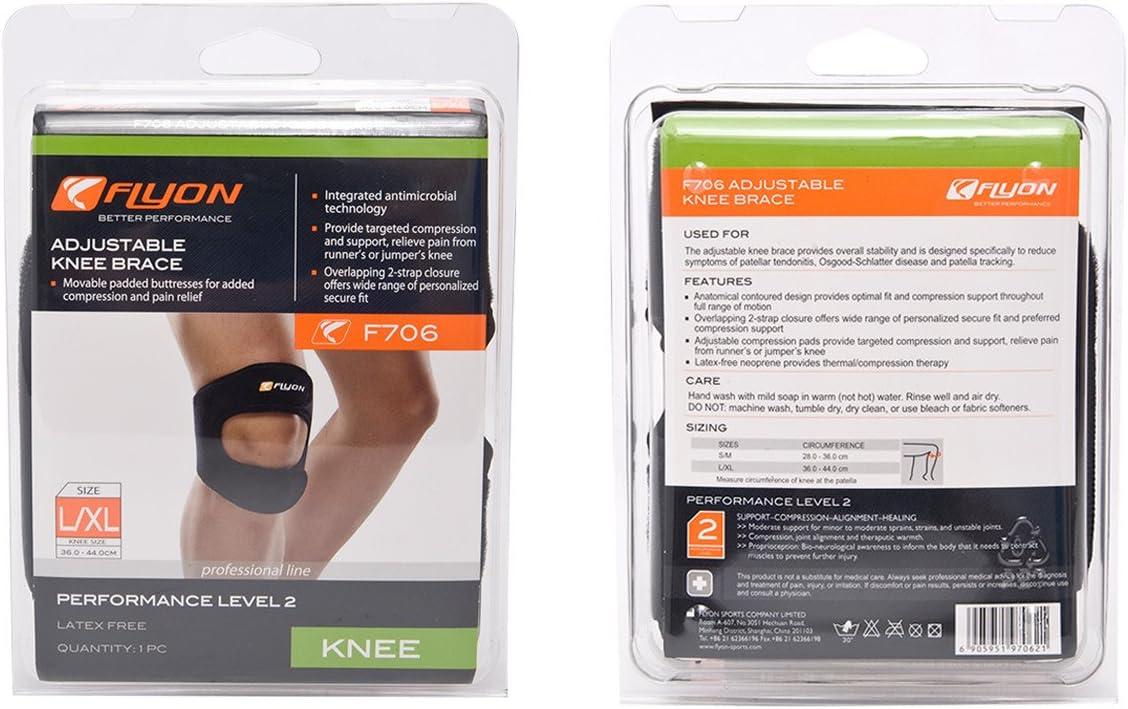 FLYON Ajustable Rodillera diseñado para Reducir síntomas de rótula ...