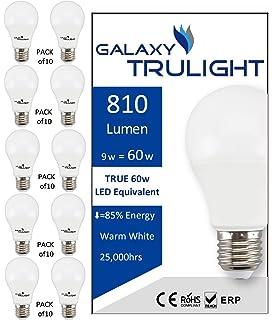 Paquete de 10 - bombilla de 9 vatios LED (60 vatios equivalente) - Galaxy Trulight LED… 5 ...