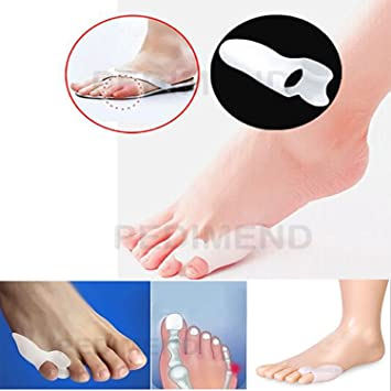 Protector de gel de silicona para dedo meñique Pedimend, alivio de juanetes y callos,