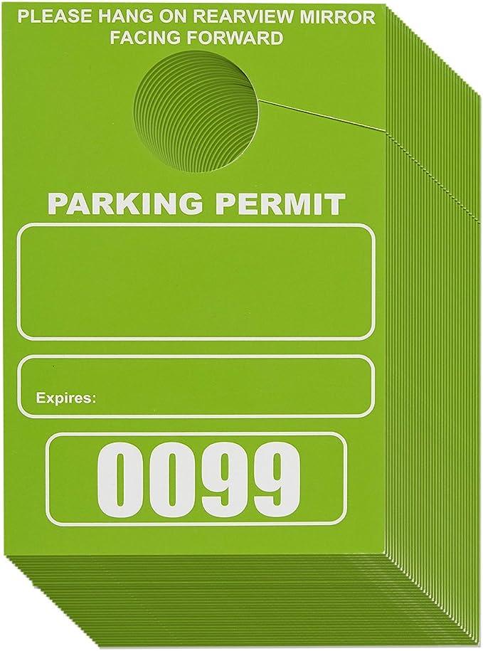 Amazon.com: Permiso de estacionamiento Juvale, pase de ...