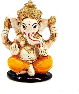 Bellaa 102601 Ganesh Statue Hindu Good Luck God 3 Inch