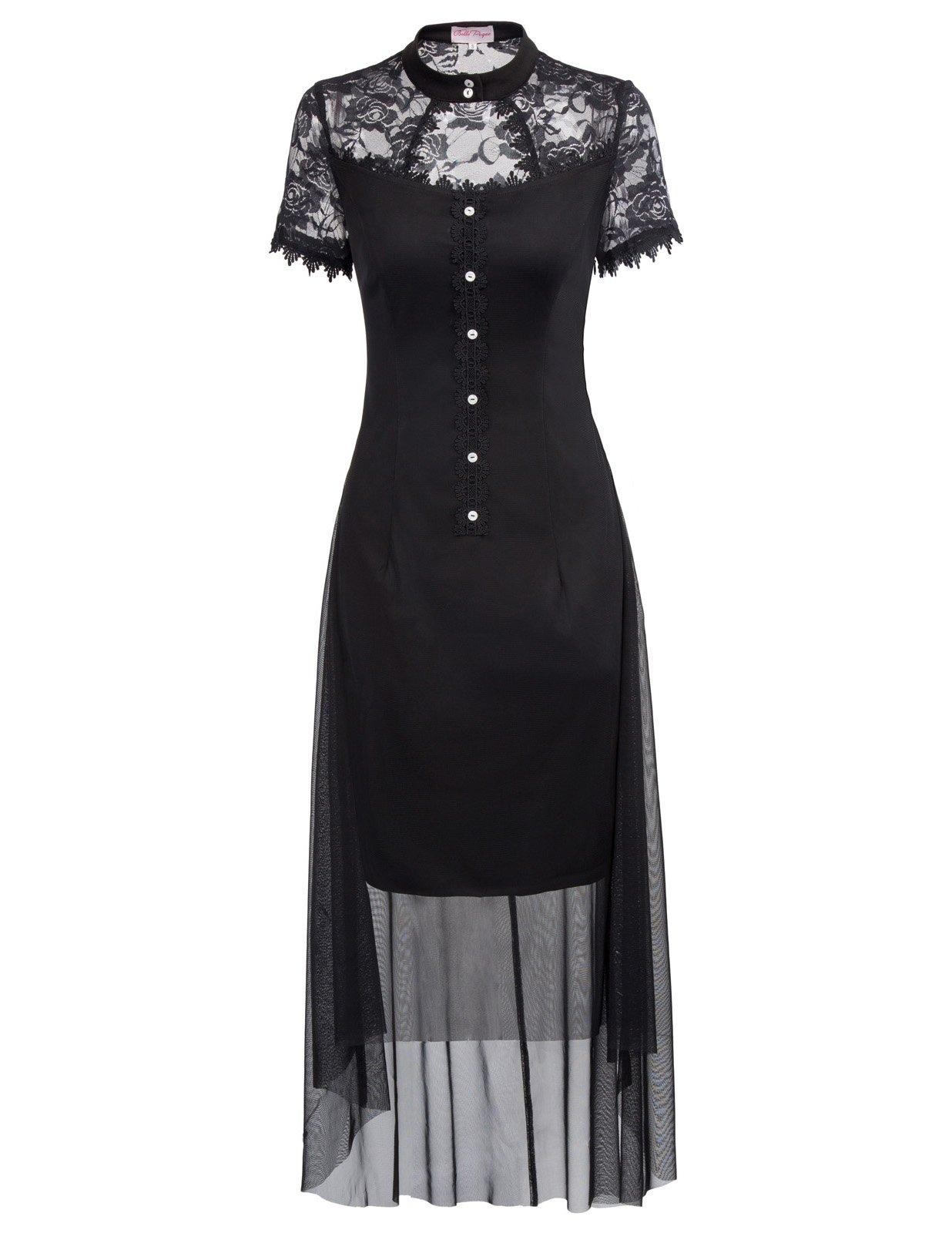 Belle Poque Women's Vintage Steampunk Gothic Victorian High Low Hem Lace Dress 3