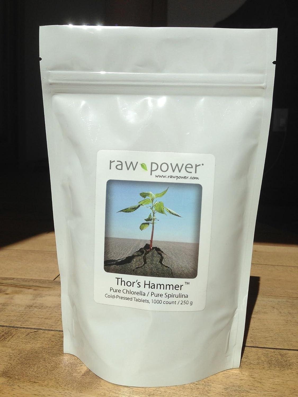 amazon com thor s hammer 1000 tablets pure chlorella spirulina