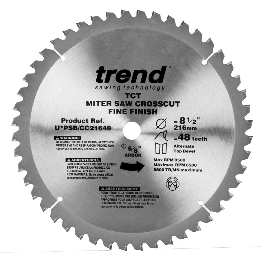 Trend PSB/CC21648 Professional Saw Blade 8-1/2-Inch by 48 Tooth, 5/8-Inch Bore